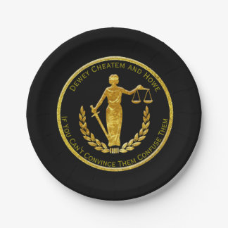 Scales of Justice Personalize Paper Plate