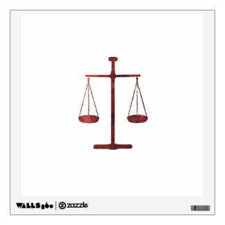 Scales of justice wall sticker