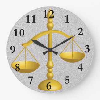 SCALES OF LAW AND JUSTICE CLOCK