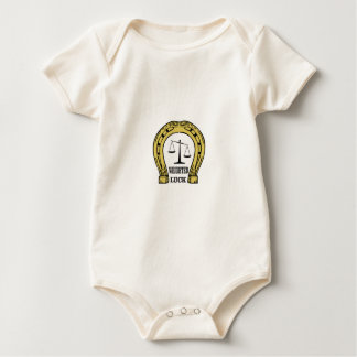 scales of weighted luck baby bodysuit