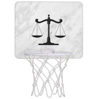 Scales on Marble Mini Basketball Hoop