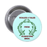 SCALES & TALES Fishing Button ~ EZ TO CUSTOMIZE!