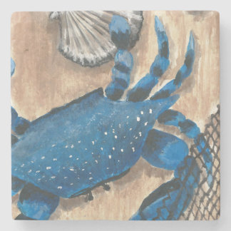 Scallop, Crab and Net Stone Coaster