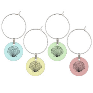Scallop Shell Wine Charm