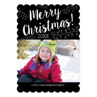 Scalloped Christmas Berries Card