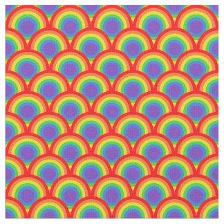 Scalloped Rainbow Scales Pattern Design Fabric