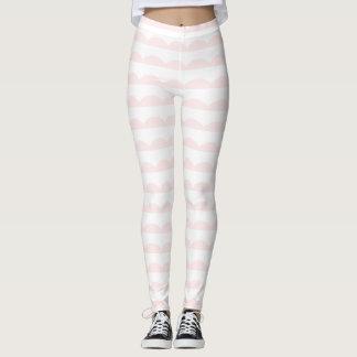 Scalloped Stripes Leggings