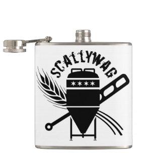 Scallywag Brewing Logo Swag Hip Flask