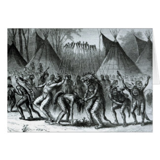 Scalp Dance from 'Sketches of Indian Warfare' Card