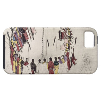 Scalp dance or victory dance (ink on paper) iPhone 5 cover