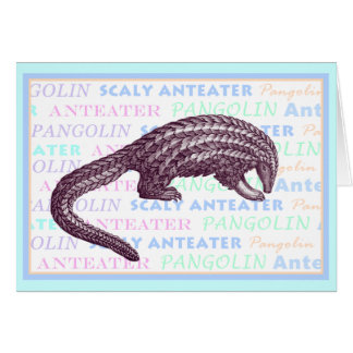 Scaly Anteater / Pangolin Greeting Card
