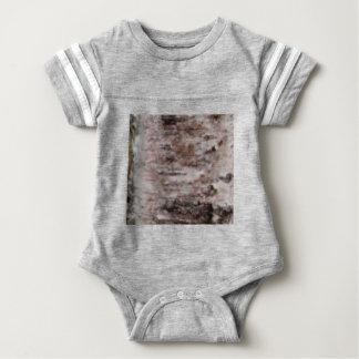 scaly white bark art baby bodysuit