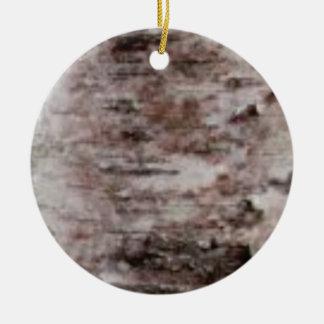 scaly white bark art ceramic ornament