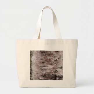 scaly white bark art large tote bag