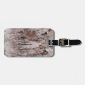 scaly white bark art luggage tag