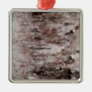 scaly white bark art metal ornament
