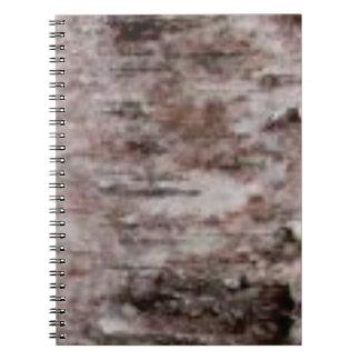 scaly white bark art notebook