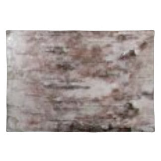 scaly white bark art placemat