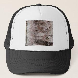 scaly white bark art trucker hat