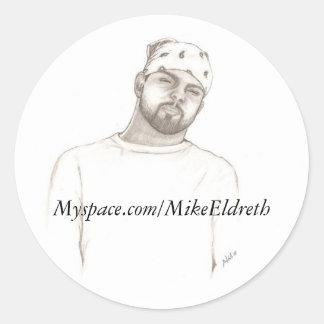 scan0001, Myspace.com/MikeEldreth Classic Round Sticker