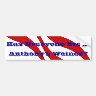Scandal Bumper Sticker Anthony Weiner Behaviour