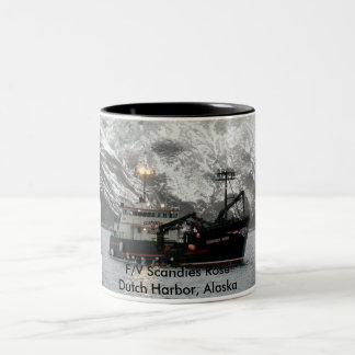 Scandies Rose, Crab Boat in Dutch Harbor, Alaska Two-Tone Coffee Mug
