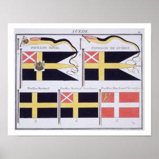 Scandinave diminue, d'un livre français des drapea
