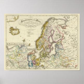 Scandinavia and Poland, church Poster