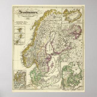 Scandinavia to Calmare Union, 1397 Poster
