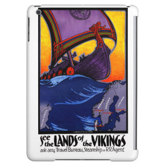 Scandinavia Vintage Travel Poster Restored Cover For iPad Air