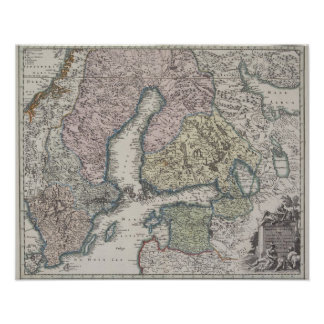 Scandinavian Antique Map Poster