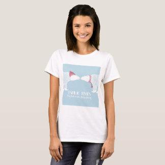 Scandinavian Bears Eskimo Kiss Snow Winter Warm T-Shirt