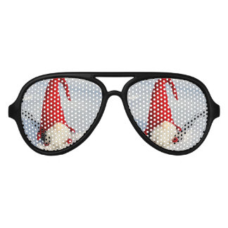 Scandinavian Christmas Gnome Aviator Sunglasses