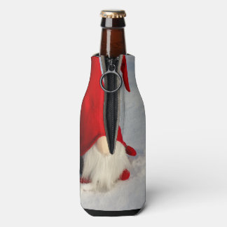 Scandinavian Christmas Gnome Bottle Cooler