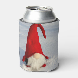 Scandinavian Christmas Gnome Can Cooler