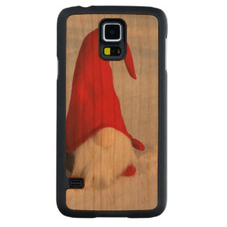 Scandinavian Christmas Gnome Carved Cherry Galaxy S5 Case
