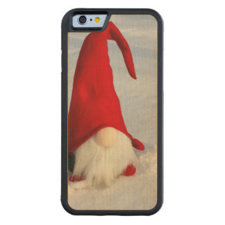 Scandinavian Christmas Gnome Carved Maple iPhone 6 Bumper Case