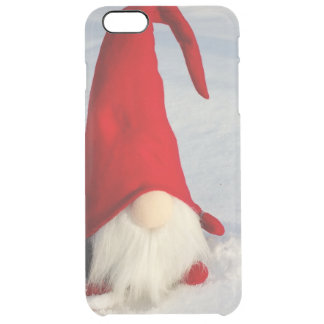 Scandinavian Christmas Gnome Clear iPhone 6 Plus Case