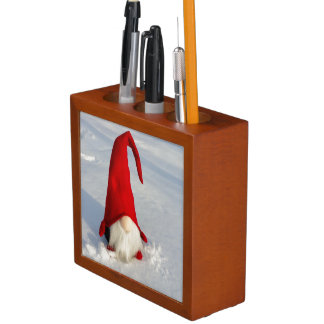 Scandinavian Christmas Gnome Desk Organizer