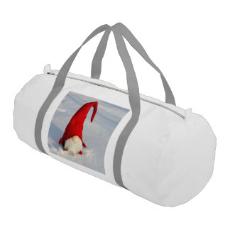 Scandinavian Christmas Gnome Gym Bag