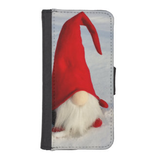 Scandinavian Christmas Gnome iPhone SE/5/5s Wallet Case