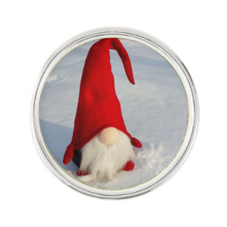 Scandinavian Christmas Gnome Lapel Pin