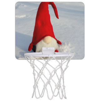 Scandinavian Christmas Gnome Mini Basketball Hoop