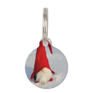 Scandinavian Christmas Gnome Pet Name Tag