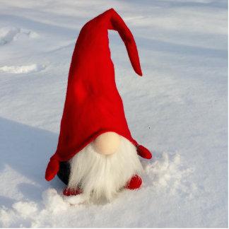 Scandinavian Christmas Gnome Photo Sculpture Ornament