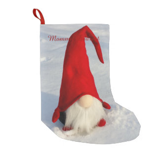 Scandinavian Christmas Gnome Small Christmas Stocking