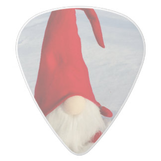 Scandinavian Christmas Gnome White Delrin Guitar Pick