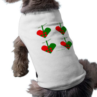 Scandinavian Christmas Hearts Doggie T-shirt