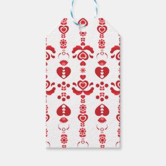 Scandinavian Christmas Modern Rosemaling Pattern Gift Tags