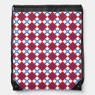 Scandinavian Christmas Pattern Cinch Bag